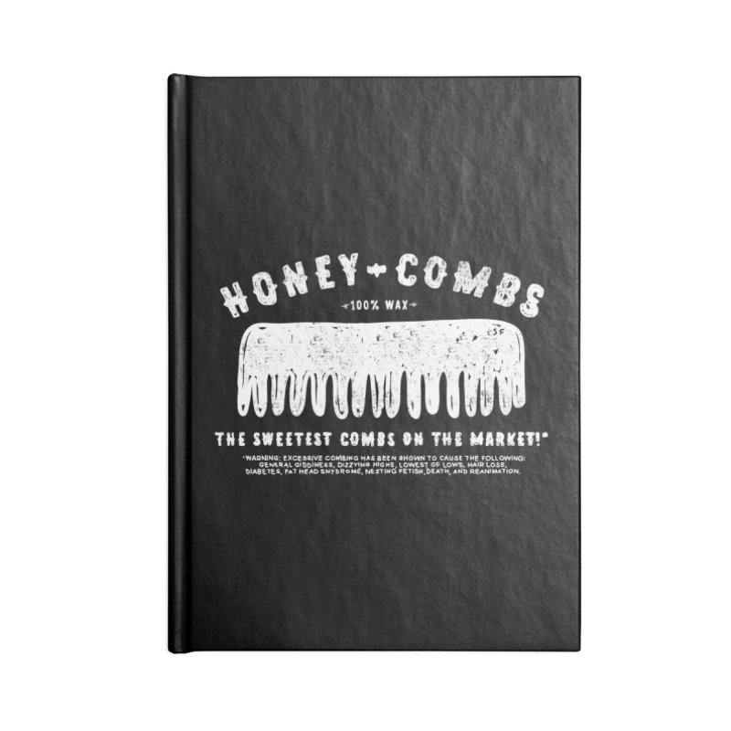 Honey-Combs : Lights Out Edition Accessories Blank Journal Notebook by Shirt Folk