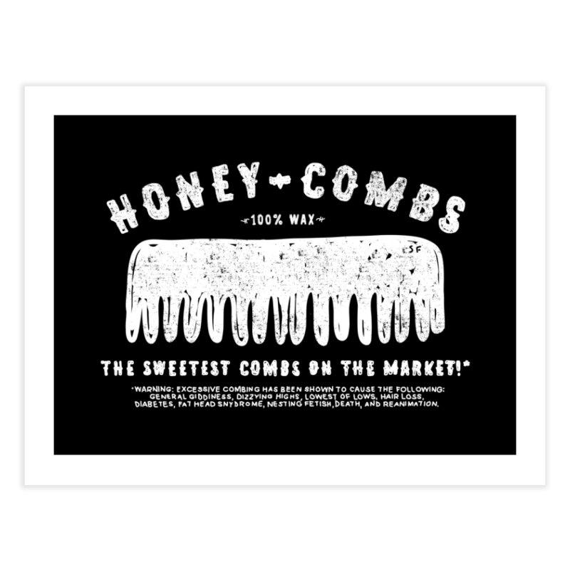 Honey-Combs : Lights Out Edition Home Fine Art Print by Shirt Folk