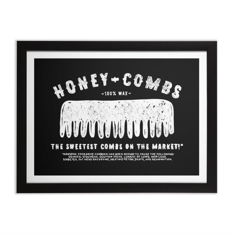 Honey-Combs : Lights Out Edition Home Framed Fine Art Print by Shirt Folk