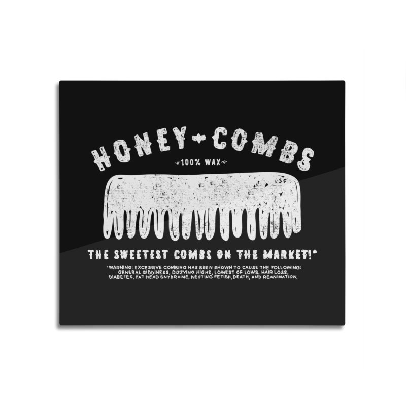 Honey-Combs : Lights Out Edition Home Mounted Aluminum Print by Shirt Folk