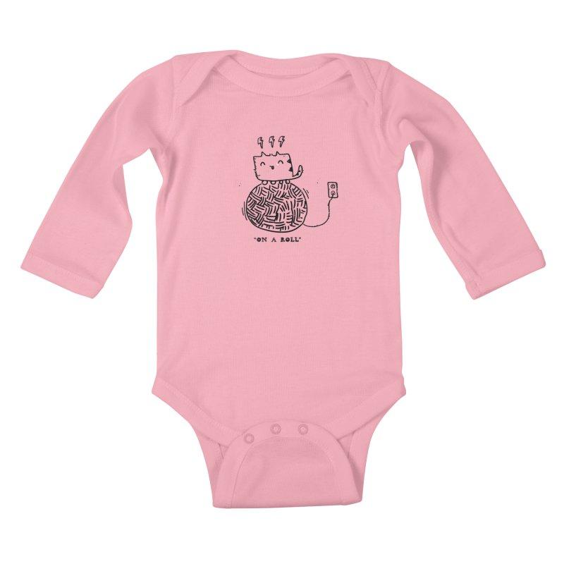 On a Roll Kids Baby Longsleeve Bodysuit by Shirt Folk