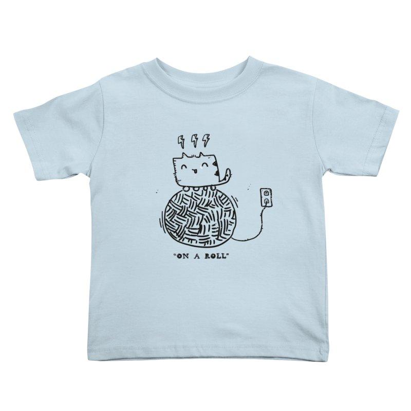 On a Roll Kids Toddler T-Shirt by Shirt Folk