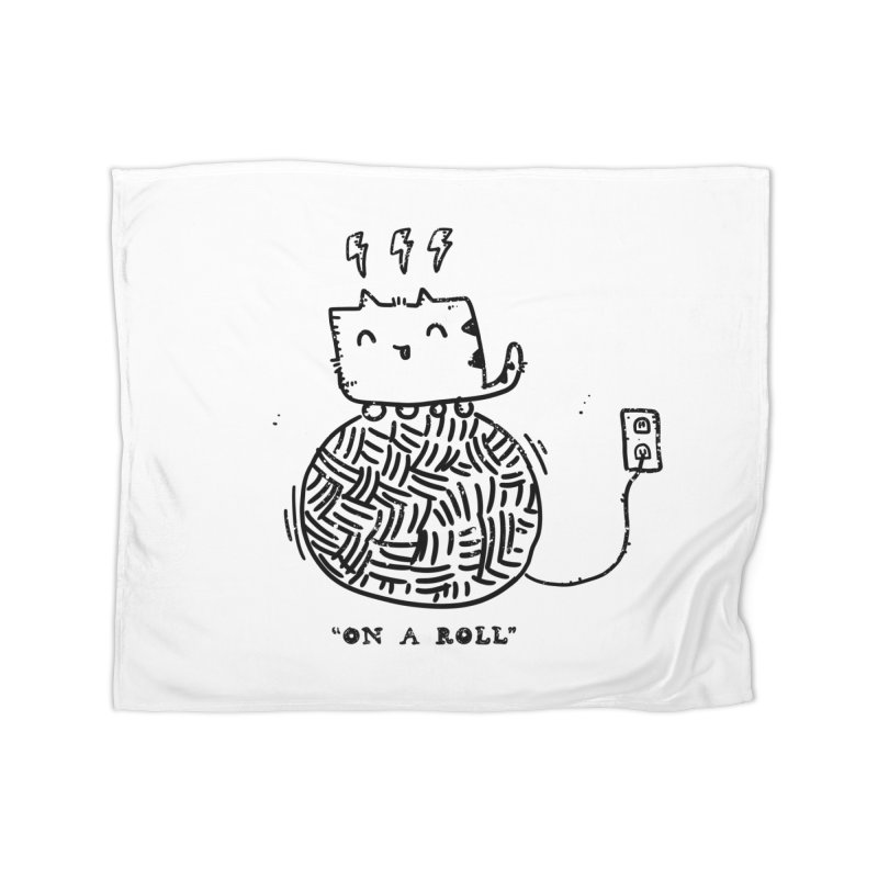 On a Roll Home Fleece Blanket Blanket by Shirt Folk