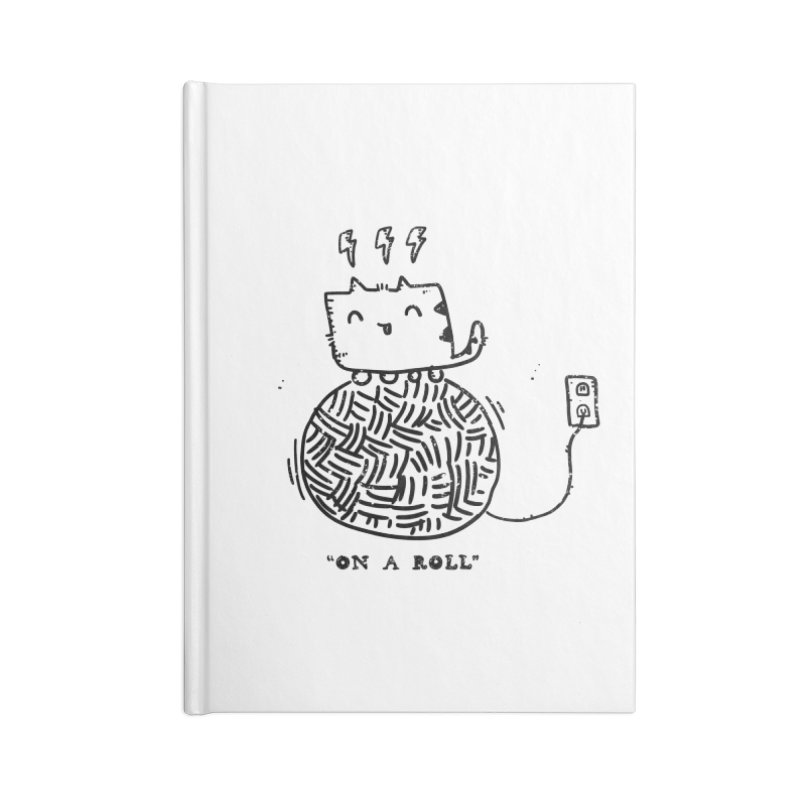 On a Roll Accessories Lined Journal Notebook by Shirt Folk