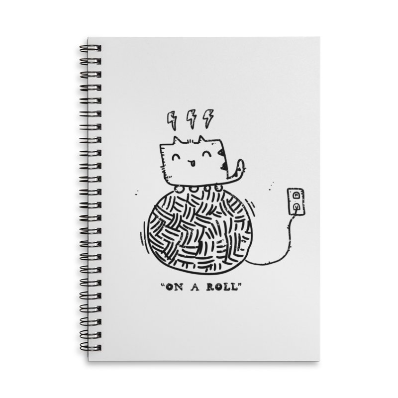 On a Roll Accessories Lined Spiral Notebook by Shirt Folk