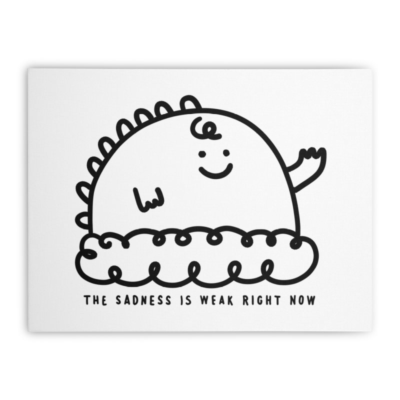 The Sadness Home Stretched Canvas by Shirt Folk