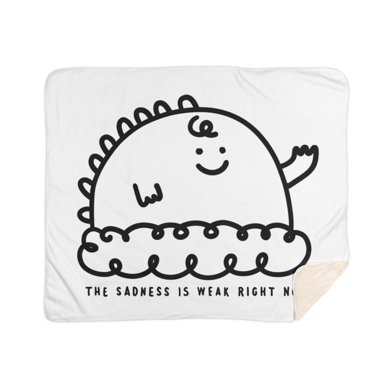 The Sadness Home Sherpa Blanket Blanket by Shirt Folk