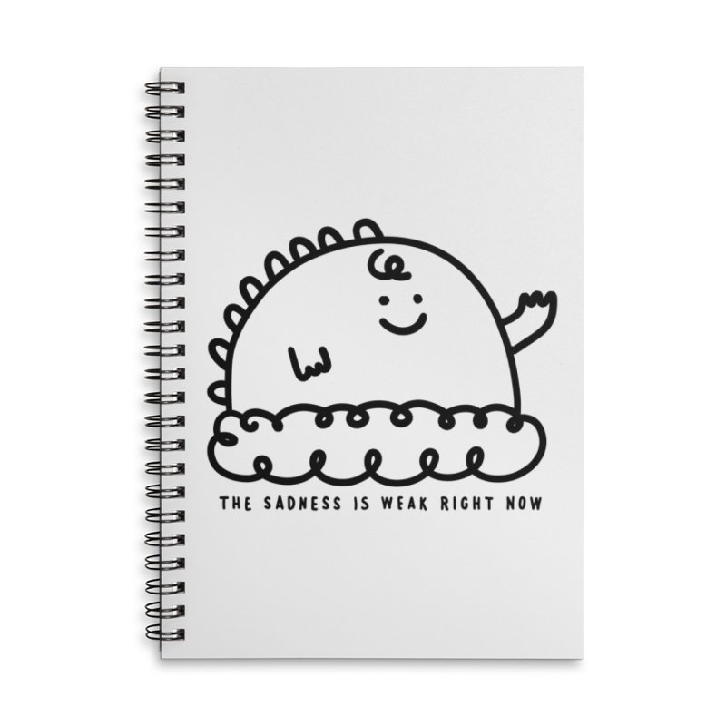 The Sadness Accessories Lined Spiral Notebook by Shirt Folk