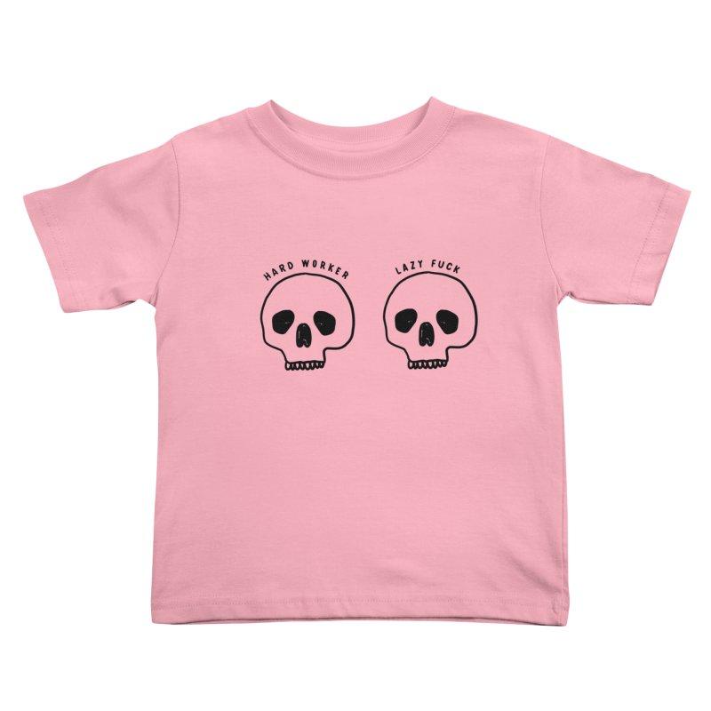 Hard Work Pays Off Kids Toddler T-Shirt by Shirt Folk