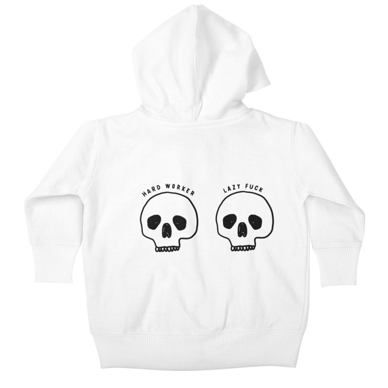 Hard Work Pays Off Kids Baby Zip-Up Hoody by Shirt Folk