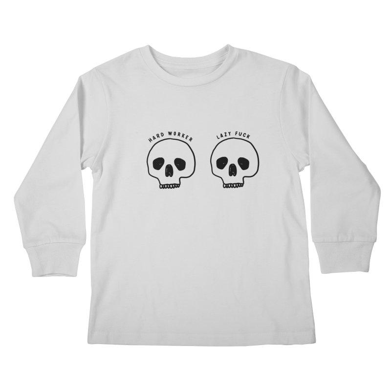 Hard Work Pays Off Kids Longsleeve T-Shirt by Shirt Folk