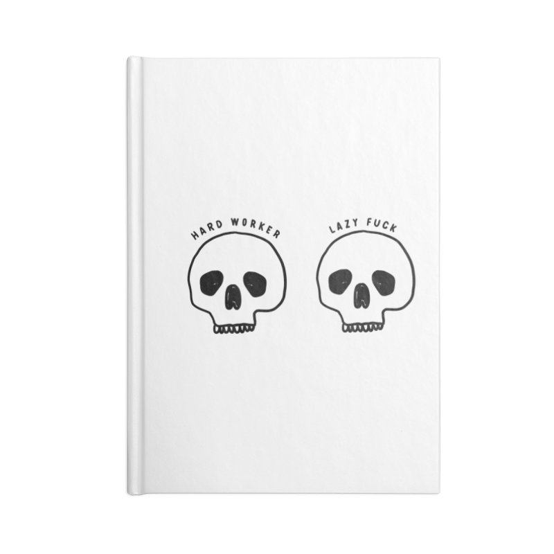 Hard Work Pays Off Accessories Lined Journal Notebook by Shirt Folk