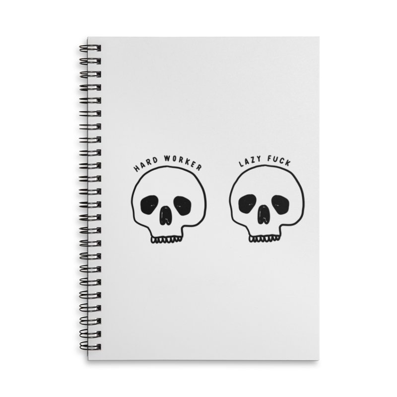 Hard Work Pays Off Accessories Lined Spiral Notebook by Shirt Folk