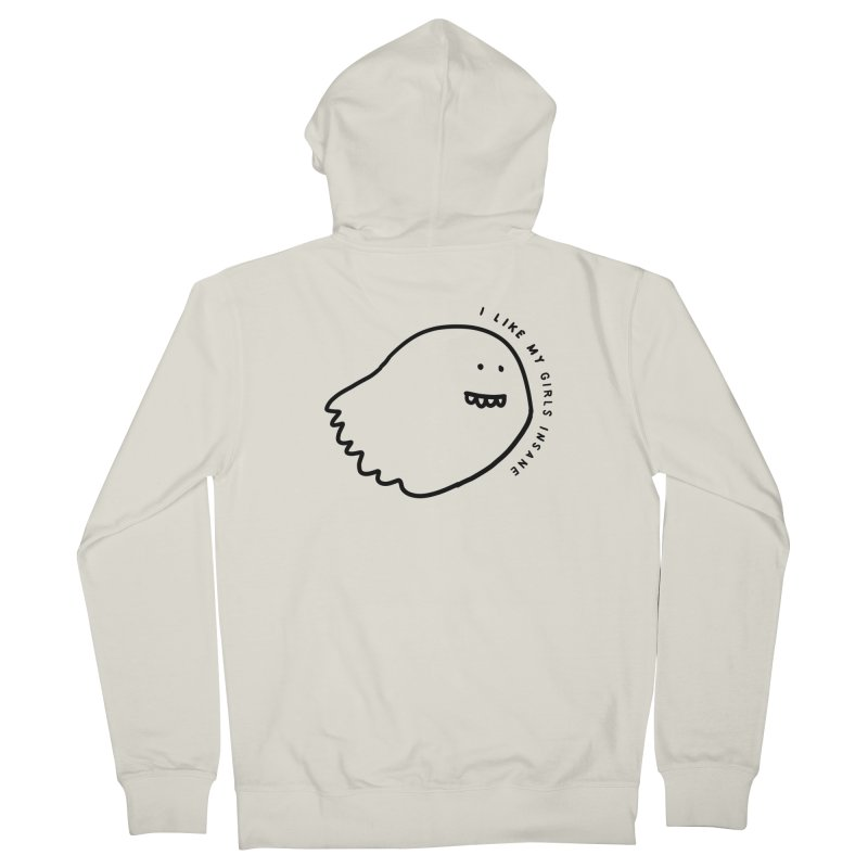 Ghostly Women's French Terry Zip-Up Hoody by Shirt Folk