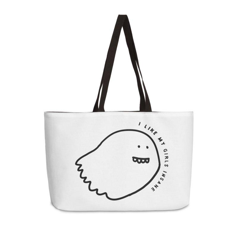 Ghostly Accessories Weekender Bag Bag by Shirt Folk
