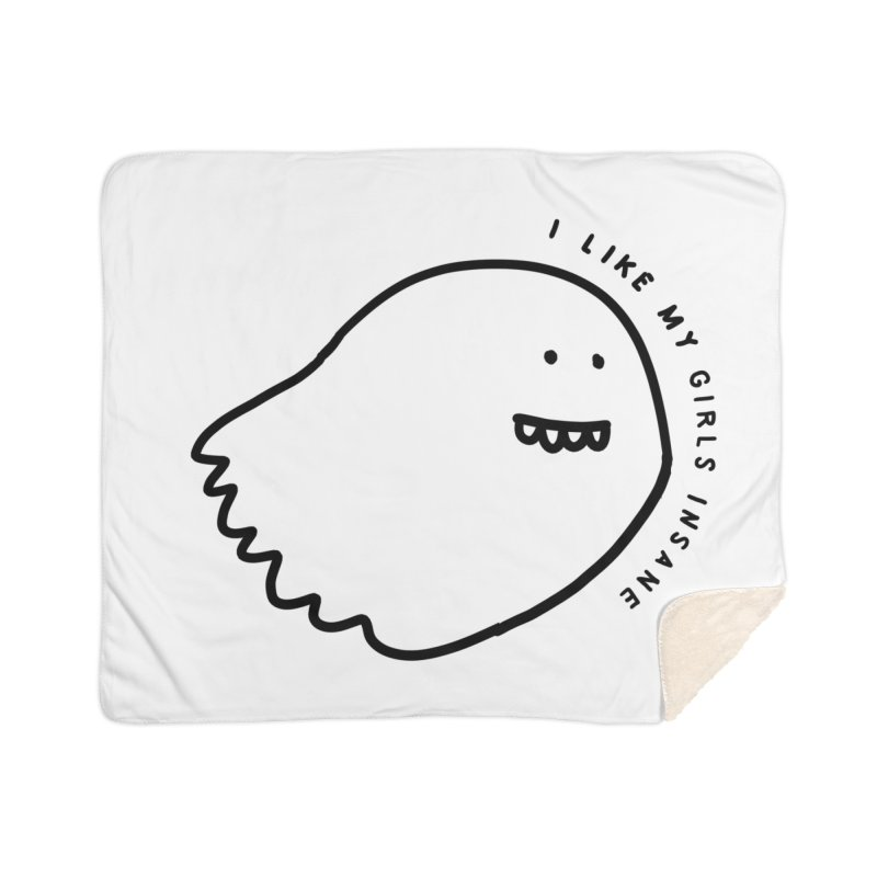 Ghostly Home Sherpa Blanket Blanket by Shirt Folk