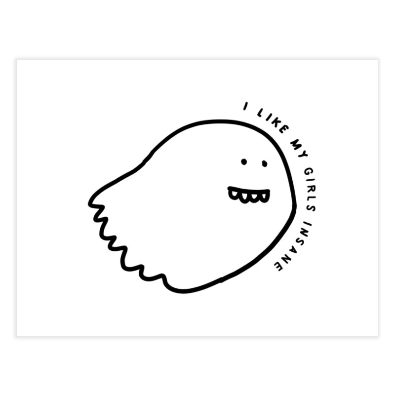 Ghostly Home Fine Art Print by Shirt Folk