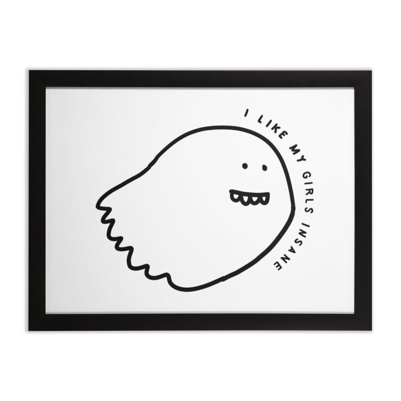 Ghostly Home Framed Fine Art Print by Shirt Folk