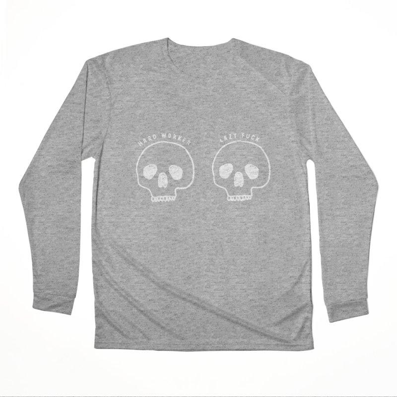 Hard Work Pays Off: Lights Out Edition Women's Performance Unisex Longsleeve T-Shirt by Shirt Folk