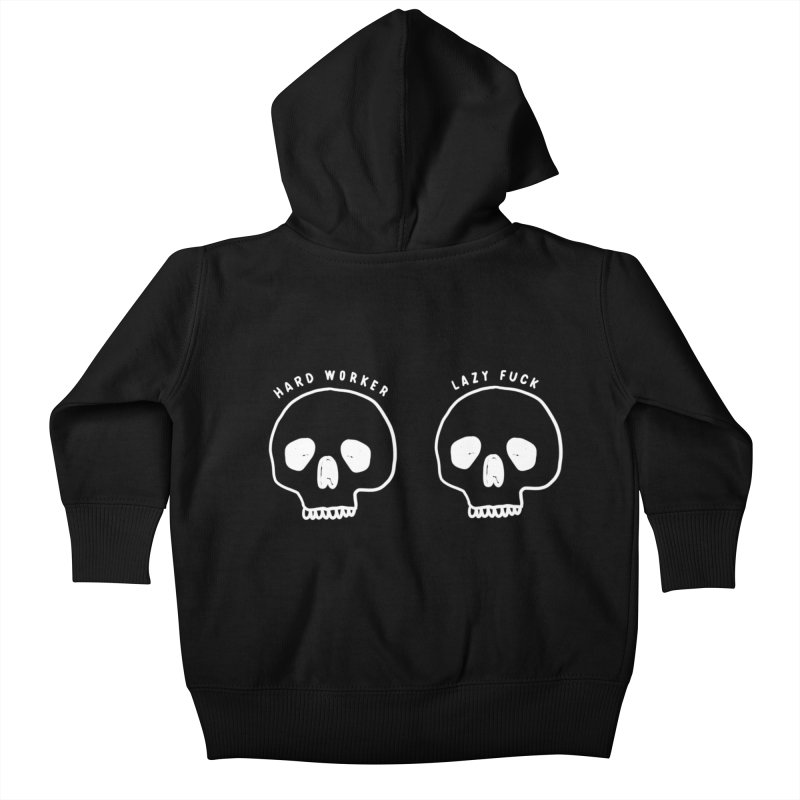 Hard Work Pays Off: Lights Out Edition Kids Baby Zip-Up Hoody by Shirt Folk