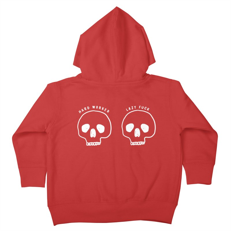 Hard Work Pays Off: Lights Out Edition Kids Toddler Zip-Up Hoody by Shirt Folk