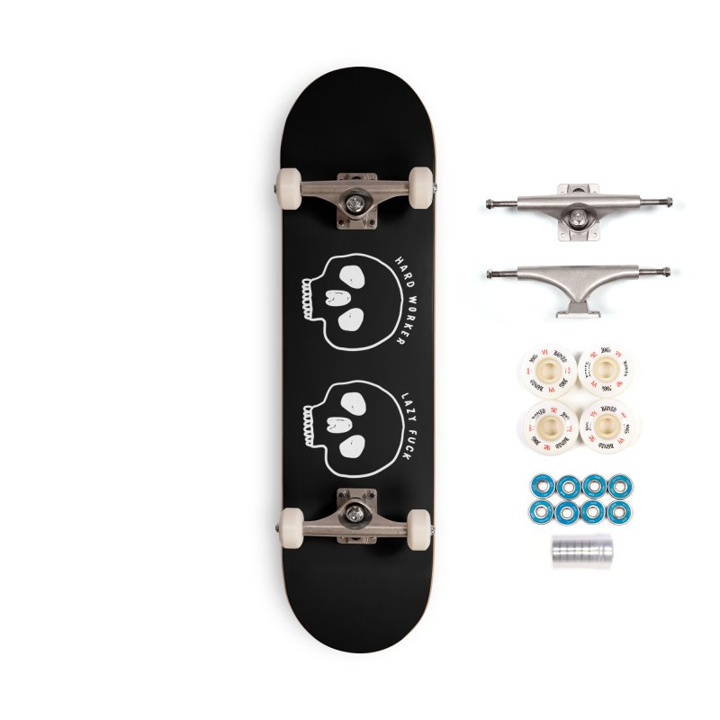 Hard Work Pays Off: Lights Out Edition Accessories Complete - Premium Skateboard by Shirt Folk