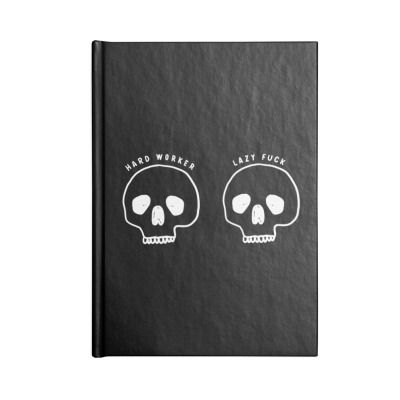 Hard Work Pays Off: Lights Out Edition Accessories Blank Journal Notebook by Shirt Folk