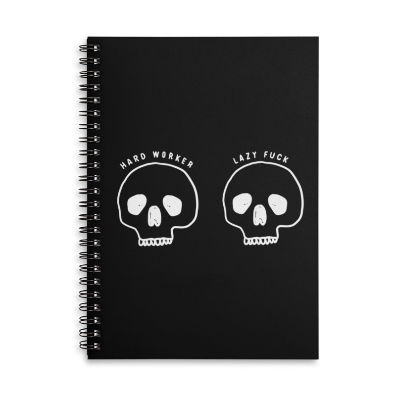 Hard Work Pays Off: Lights Out Edition Accessories Lined Spiral Notebook by Shirt Folk