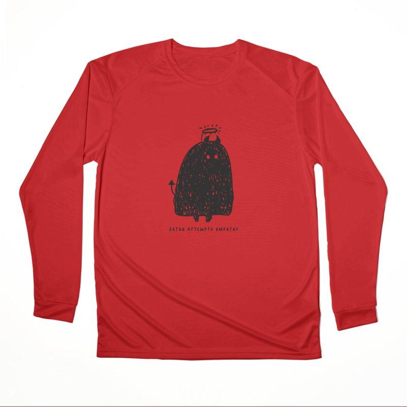 Satan Attempts Empathy Men's Performance Longsleeve T-Shirt by Shirt Folk