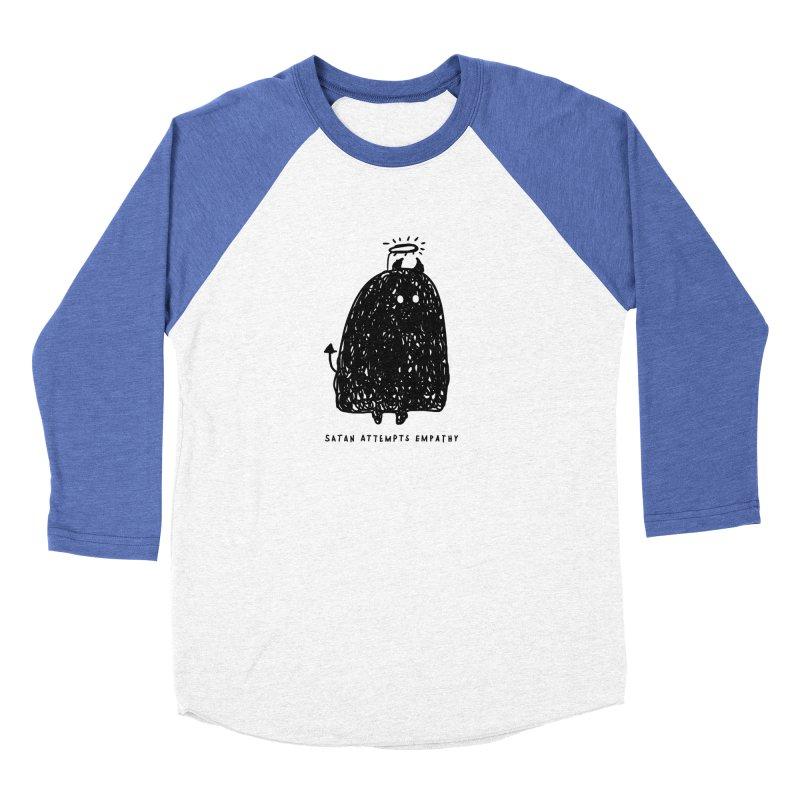Satan Attempts Empathy Women's Baseball Triblend Longsleeve T-Shirt by Shirt Folk