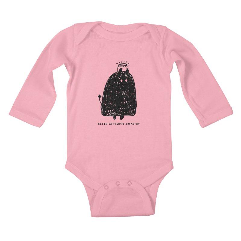 Satan Attempts Empathy Kids Baby Longsleeve Bodysuit by Shirt Folk