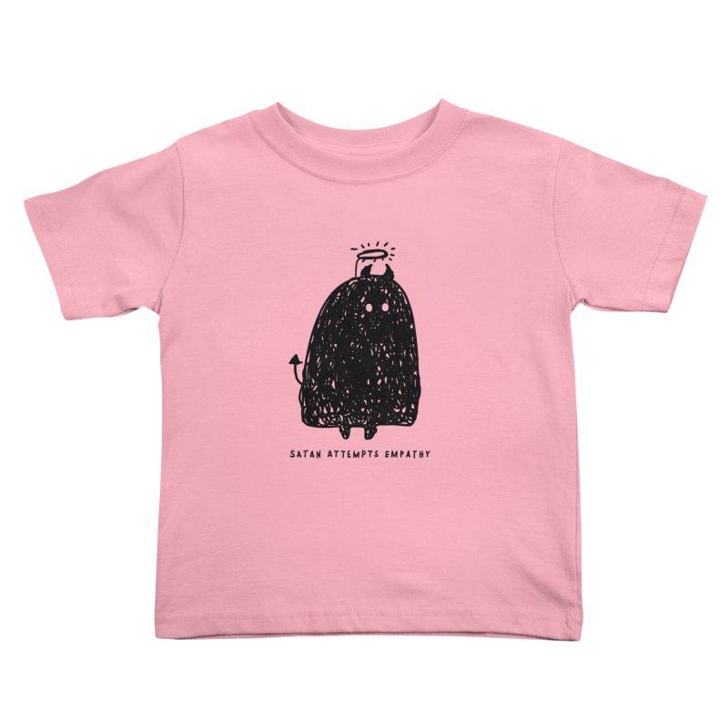 Satan Attempts Empathy Kids Toddler T-Shirt by Shirt Folk