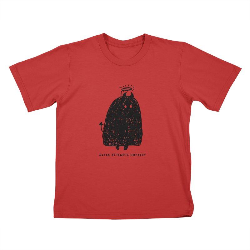 Satan Attempts Empathy Kids T-Shirt by Shirt Folk