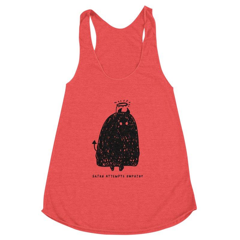 Satan Attempts Empathy Women's Racerback Triblend Tank by Shirt Folk
