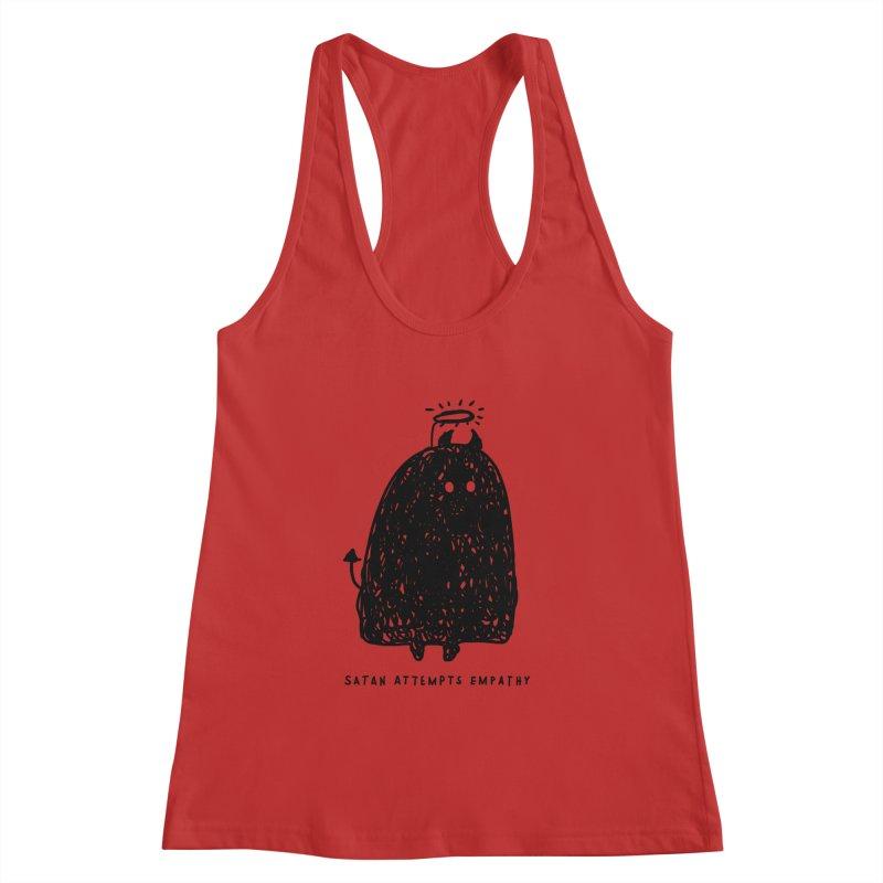 Satan Attempts Empathy Women's Racerback Tank by Shirt Folk
