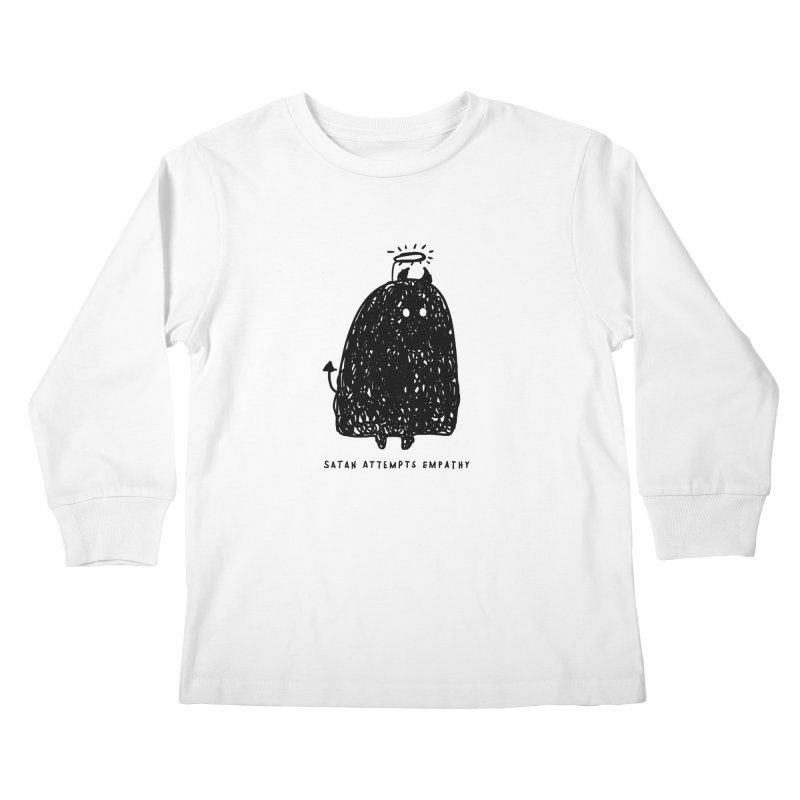 Satan Attempts Empathy Kids Longsleeve T-Shirt by Shirt Folk