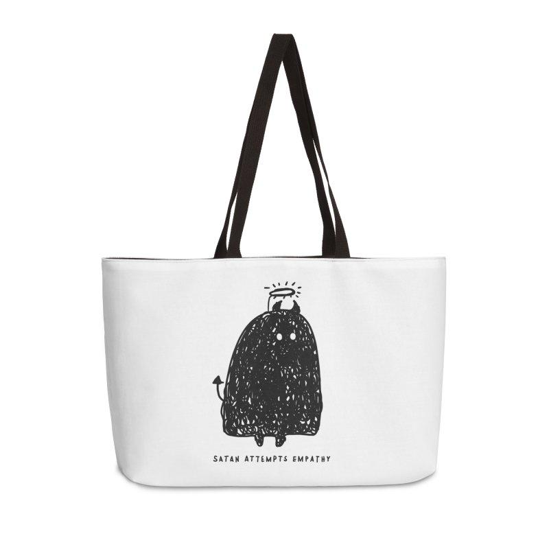 Satan Attempts Empathy Accessories Weekender Bag Bag by Shirt Folk