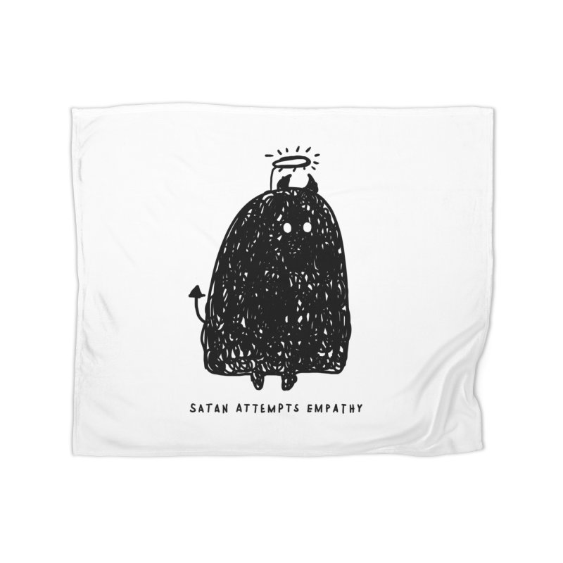 Satan Attempts Empathy Home Fleece Blanket Blanket by Shirt Folk