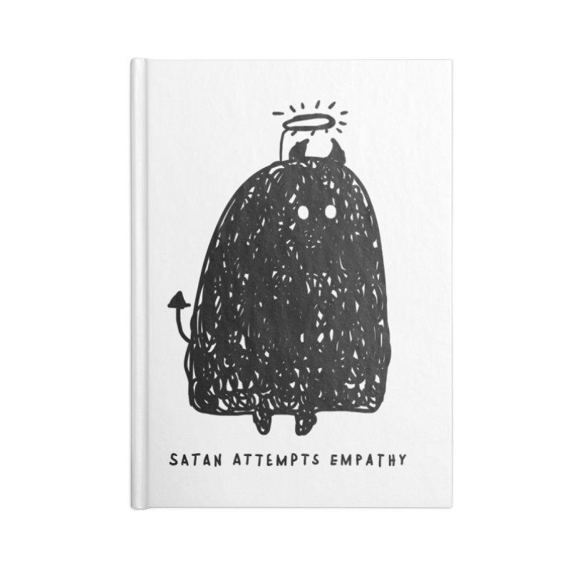 Satan Attempts Empathy Accessories Lined Journal Notebook by Shirt Folk