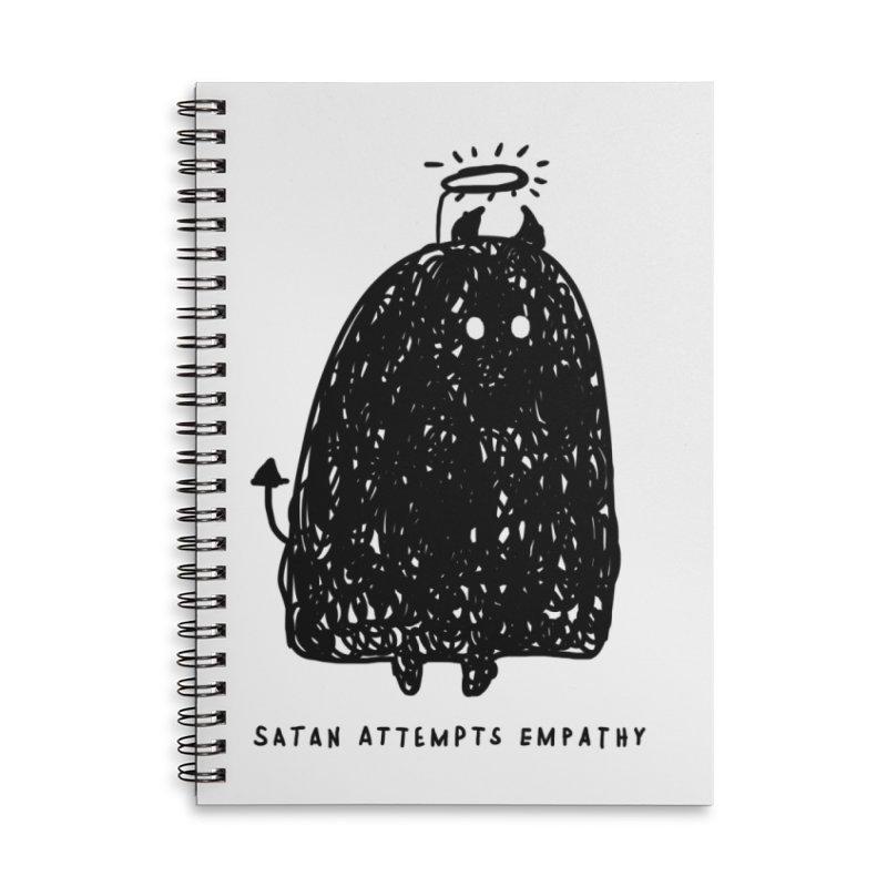 Satan Attempts Empathy Accessories Lined Spiral Notebook by Shirt Folk