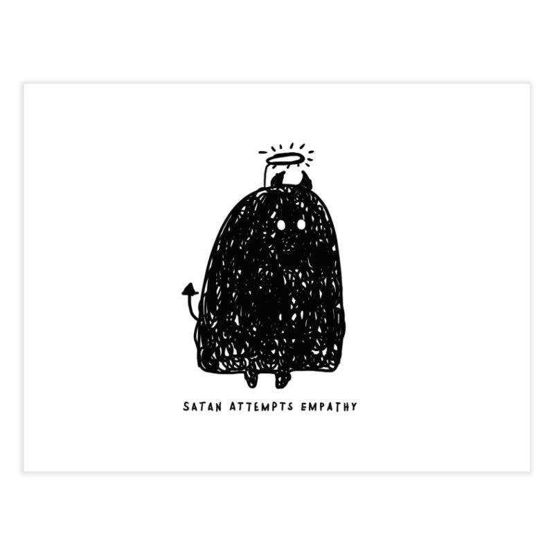 Satan Attempts Empathy Home Fine Art Print by Shirt Folk