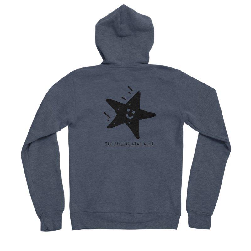 The Falling Star Club Men's Sponge Fleece Zip-Up Hoody by Shirt Folk