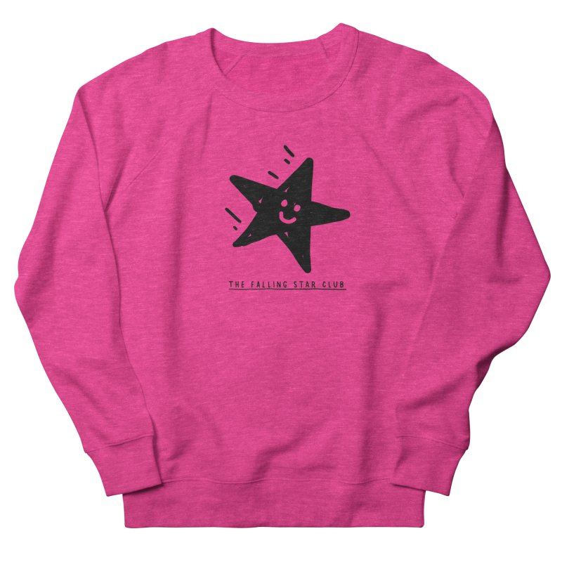 The Falling Star Club Women's French Terry Sweatshirt by Shirt Folk