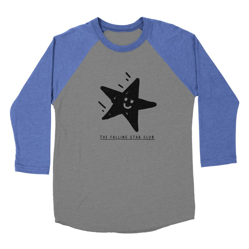 The Falling Star Club Men's Baseball Triblend Longsleeve T-Shirt by Shirt Folk