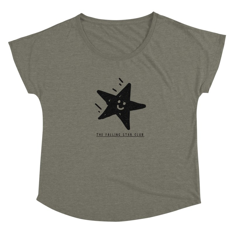 The Falling Star Club Women's Dolman Scoop Neck by Shirt Folk