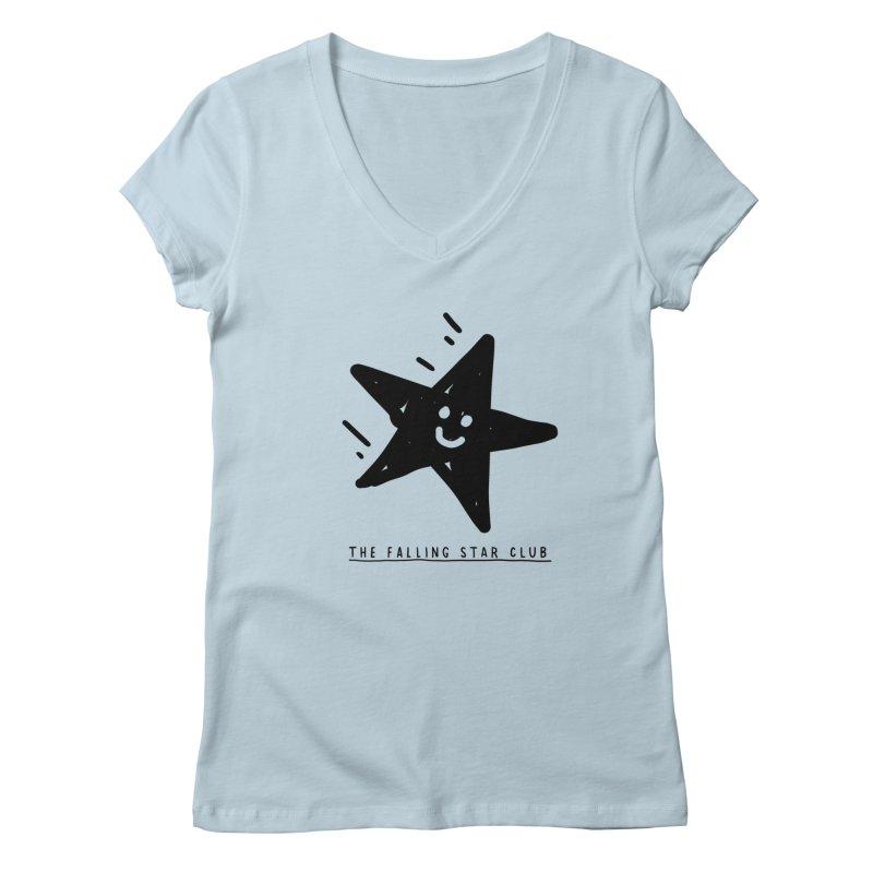 The Falling Star Club Women's Regular V-Neck by Shirt Folk