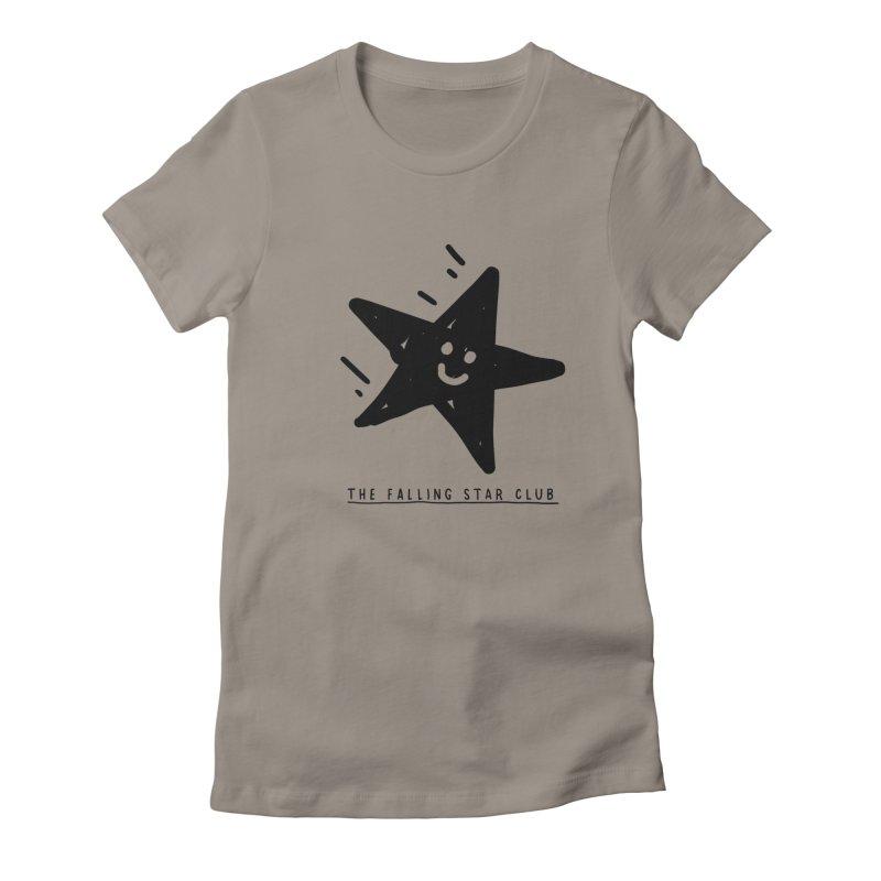 The Falling Star Club Women's Fitted T-Shirt by Shirt Folk