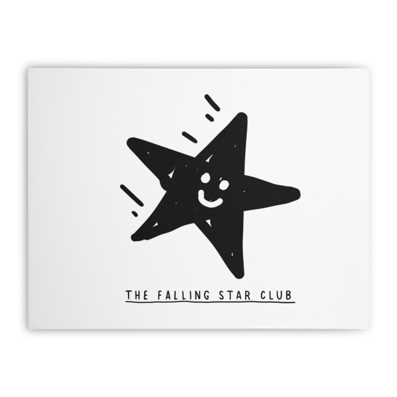 The Falling Star Club Home Stretched Canvas by Shirt Folk