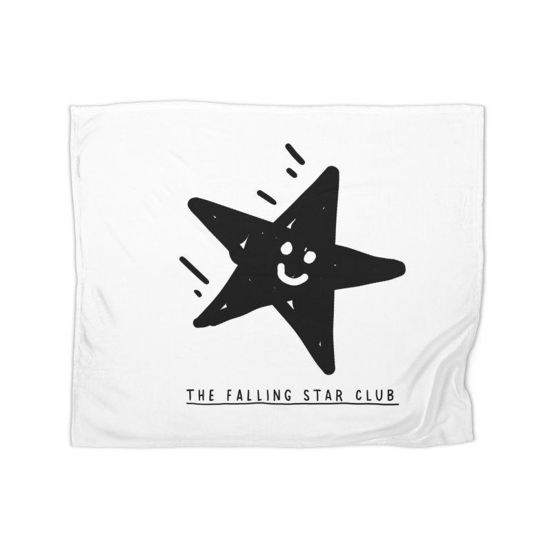 The Falling Star Club Home Fleece Blanket Blanket by Shirt Folk
