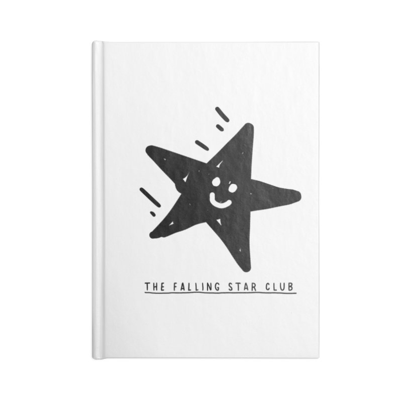 The Falling Star Club Accessories Lined Journal Notebook by Shirt Folk